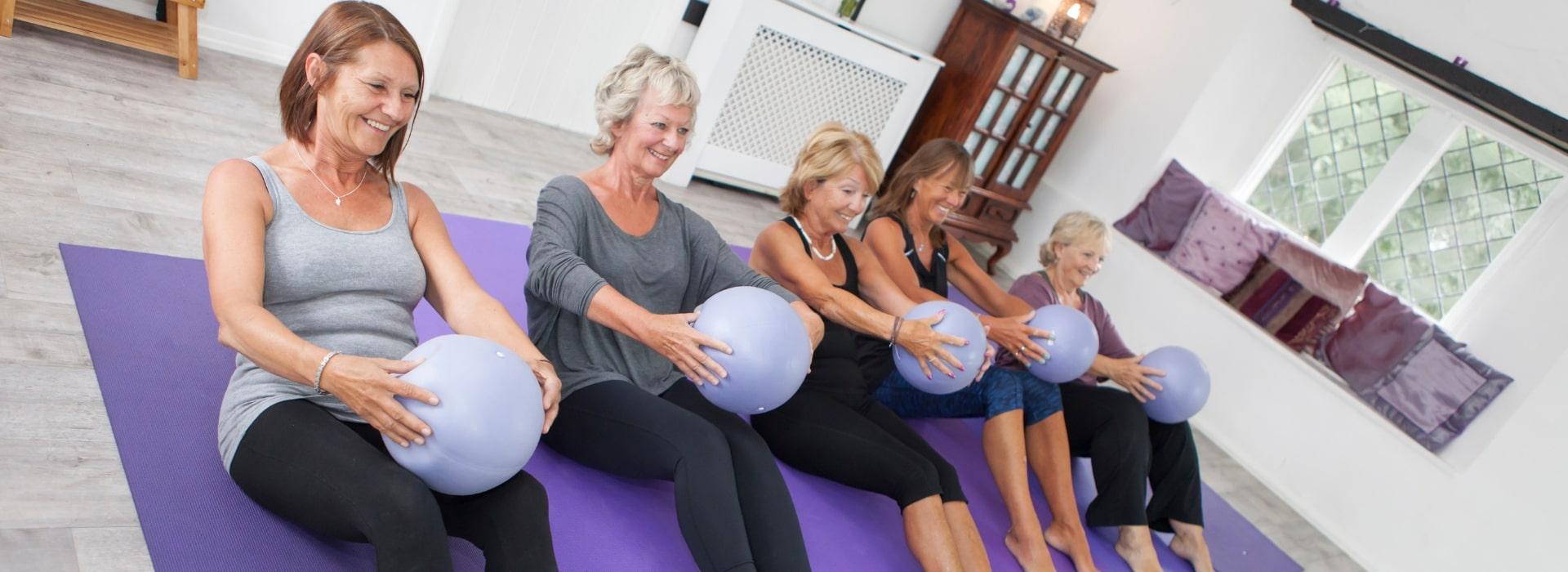 Pilates class over 60's